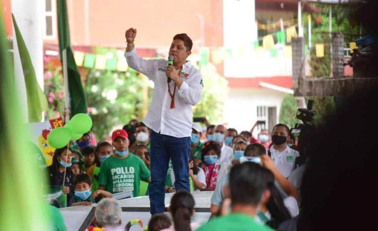 Promete ´Pollo´ Gallardo terminar la desigualdad