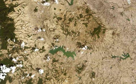 Sequía se ve desde el espacio