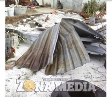 Granizo devastó una comunidad