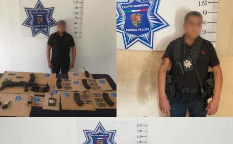 Un detenido, armas y más a disposición de la fiscalía