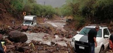 Deslave por fuertes lluvias