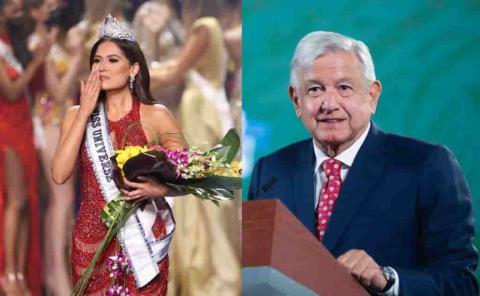 Felicita AMLO a Andrea Meza, 'es la más guapa'