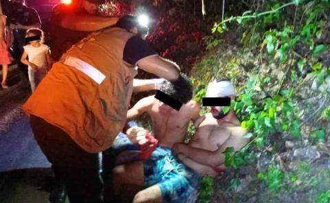 Tres heridos en accidente