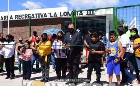 Inauguraron un área recreativa en La Lomita