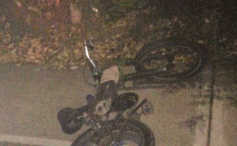 Cayó de bicicleta