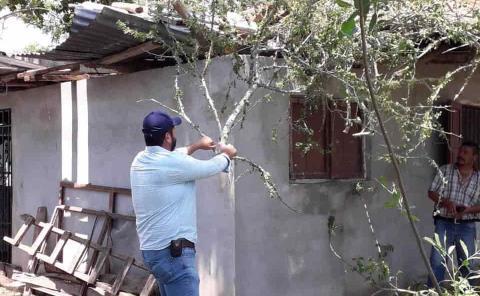 Miles de pesos en daños por tormenta