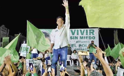 Gallardo ganará con 100,000 votos al 2o.