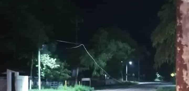 Reventaron cables de alta tensión