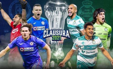 Cruz Azul y Santos van por el título