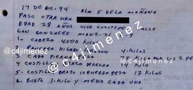Revelan aterradoras anotaciones de caníbal de Atizapán