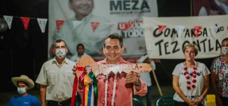 Llave del pueblo para Pepe Meza en Tezontla