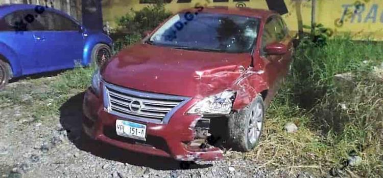 Detienen a un sujeto  por causar un accidente