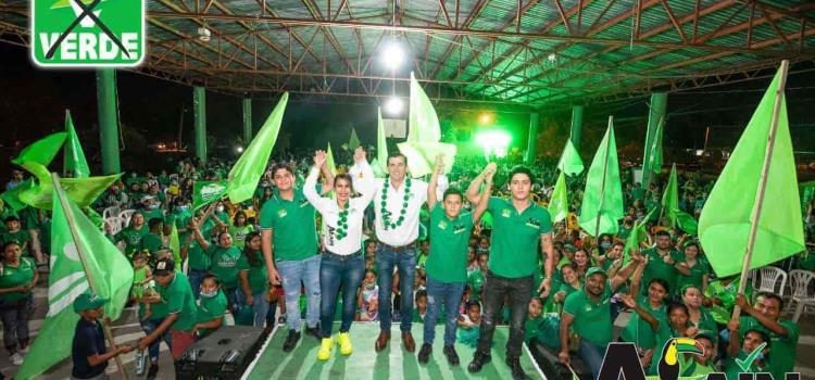 Voten parejo por el Verde