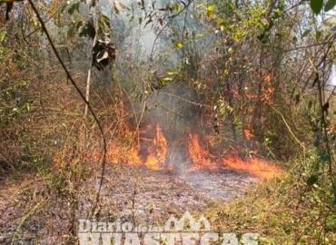 Pide a pobladores evitar incendios de pastizales