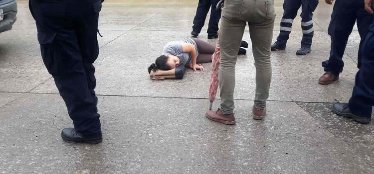 Chofer de la CFE  atropelló a mujer