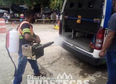 Continúa sanitizando a unidades de transporte