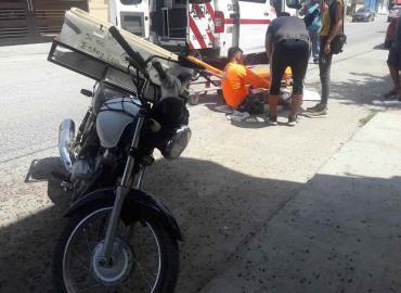 Ciclista arrollado  por motociclista