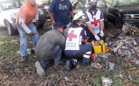 Hombre aplastado por un automóvil