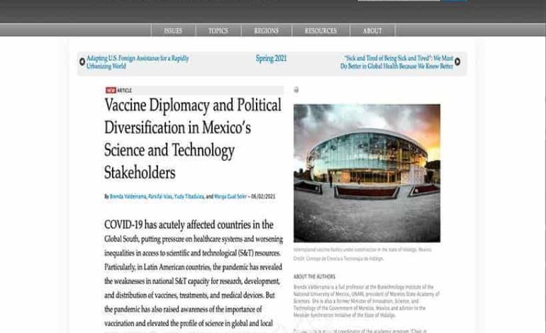Hidalgo es líder en diplomacia científica