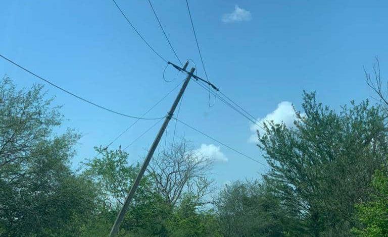 Colapsan líneas de CFE en Jomté