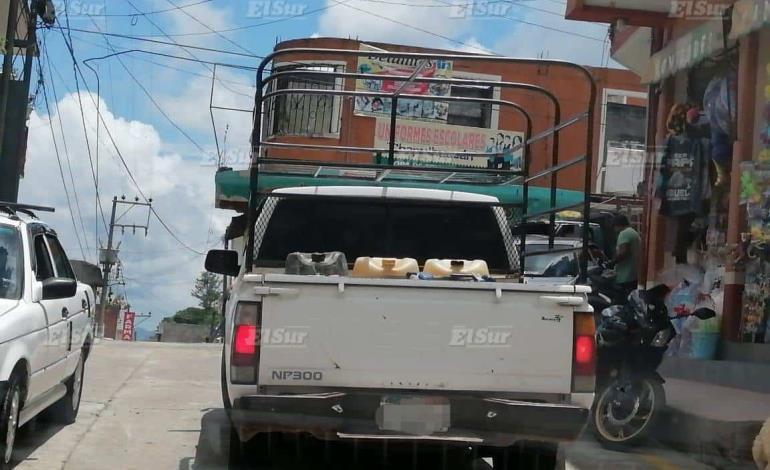 Riesgo por traslado de gasolina en camionetas