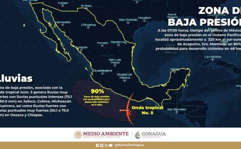 Alertan por ciclón en la Huasteca