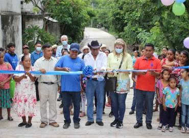 Camino rural  inauguró Edil