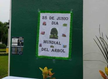 Conmemoran Día del Árbol
