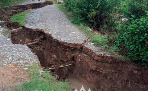 Falla geológica amenaza a familia