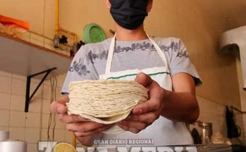La tortilla ya cuesta $20