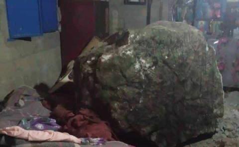 Roca aplastó una vivienda