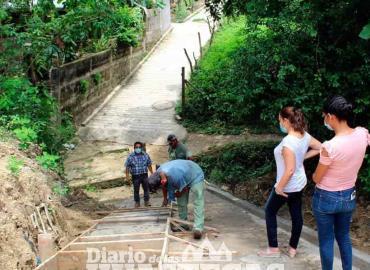 Presidenta supervisó obra de pavimentación