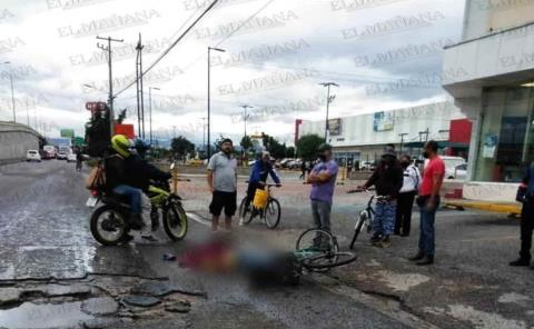 Ciclista fue atropellado