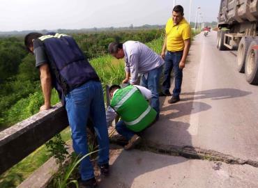 Evaluaron puente de la Tamuín-Xolol