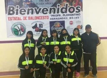 Jóvenes destacan en básquet estatal