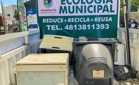 Recolecta Ecología basura tecnológica