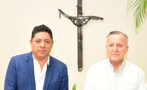 Ricardo Gallardo y Arzobispo de SLP acuerdan trabajar por la paz