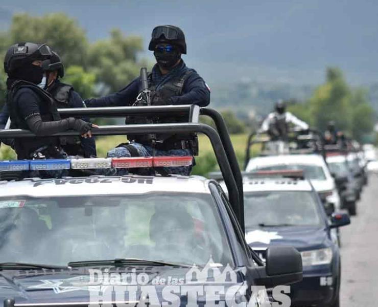 Policía aseguro a Sujetos armados