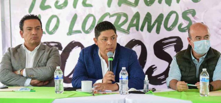 Gallardo se reunió  con alcaldes electos
