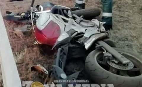 Motociclista resultó herido