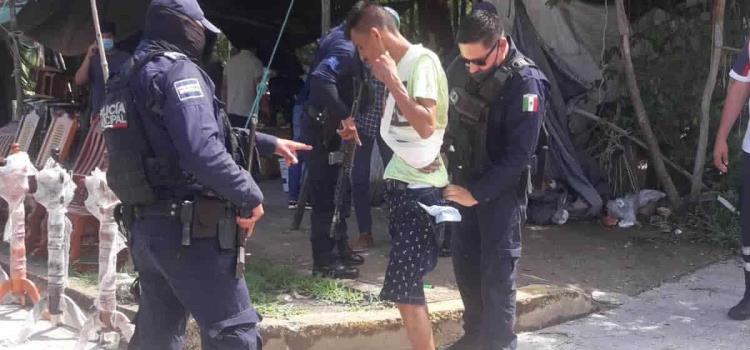 Capturan a ladrón policías municipales