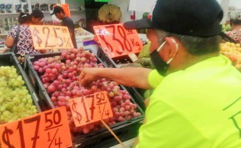 Sube 40% el precio de frutas y verduras