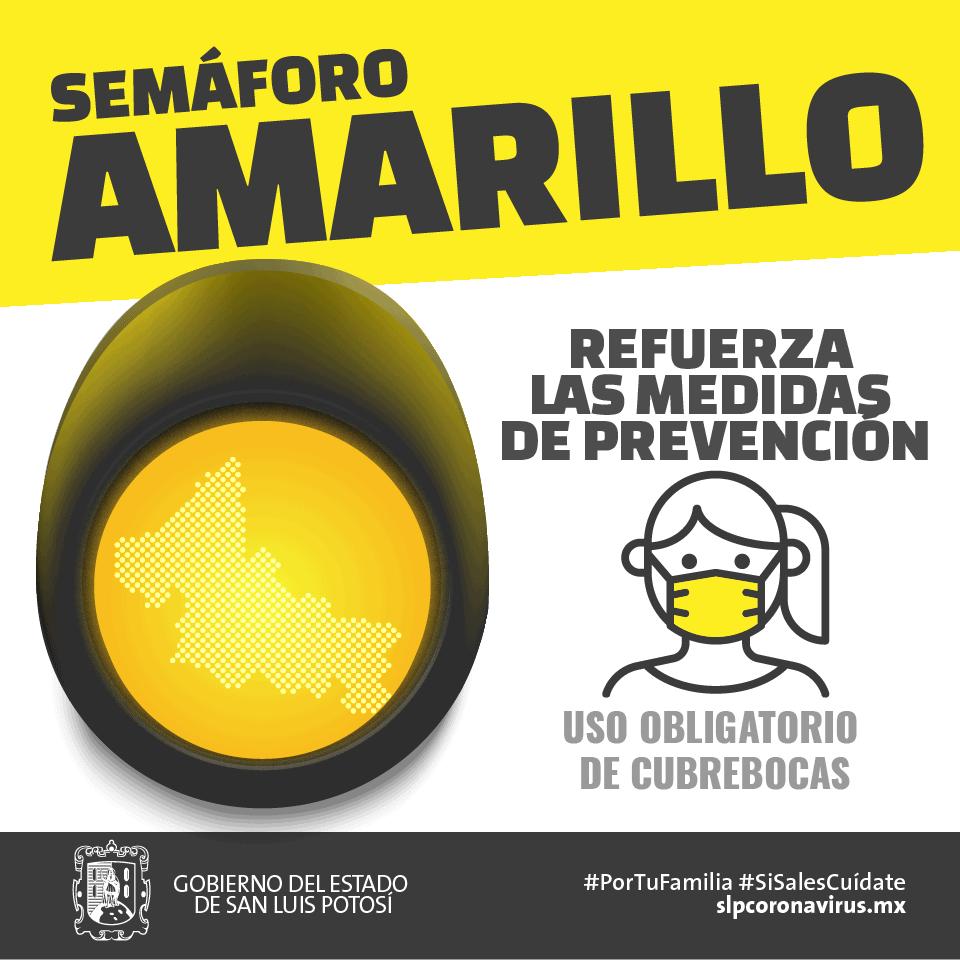 Semáforo Amarillo Refuerza las Medidas de Prevención