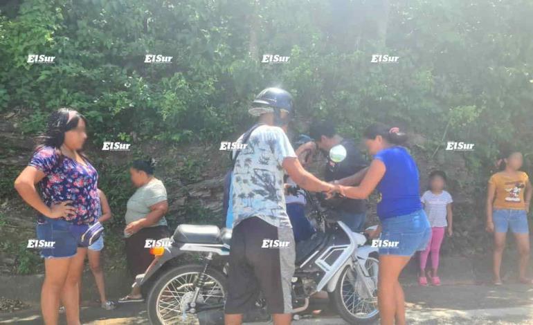 Choque de motocicletas antes de Tamán; no hubo heridos graves