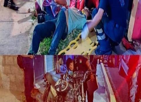 Motociclista herido en fuerte accidente