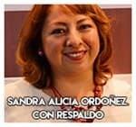 Sandra Alicia Ordoñez.............. Con respaldo