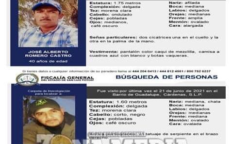 Buscan a dos desaparecidos