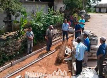 Alcalde supervisó obras en proceso