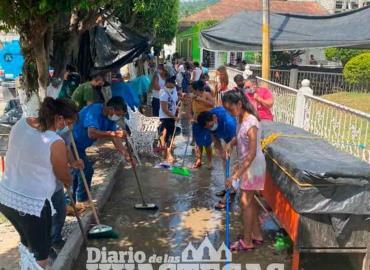 Realizaron actividades de limpieza en las vías
