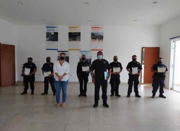 Policías recibieron certificado de SSPE